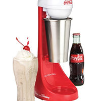 Nostalgia MLKS100COKE Coca-Cola Limited Edition Two-Speed Milkshake Maker, 16 oz, Cookie Red