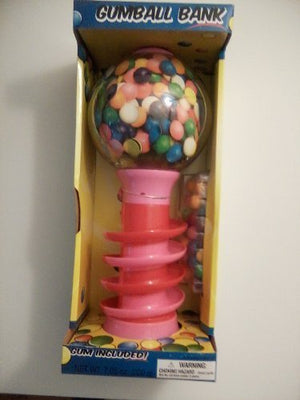 Dubble Bubble 18 inch Spiral Fun Gumball Machine Bank - Pink by Shermag