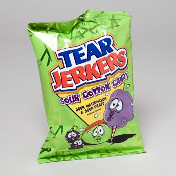 Tear Jerkers Sour Cotton Candy, 2.1-Ounce Packages (Pack of 24)