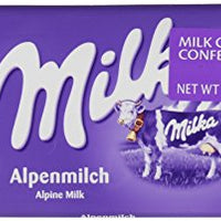 Milka Alpine Milk Chocolate, 100g