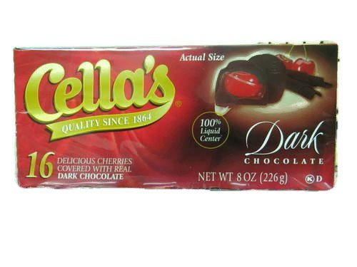 Cella's Dark Chocolate Covered Cherries 8 oz - 16 CT (Pack of 2)
