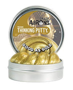 Crazy Aaron's Thinking Putty (1.6 oz) Precious Metals - Good as Gold - Soft Texture, Never Dries Out