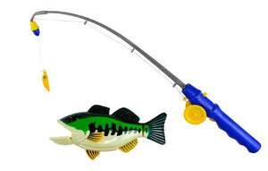PennToy Bass Fishing Bathtub Toy - Swimming Fish