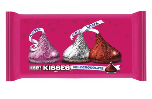 Hershey's Kisses Valentine's Milk Chocolate, 11-Ounce Bag