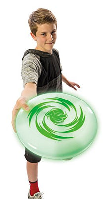 NightZone Horizon Light Up Disc by Toysmith - Flying Disk Toy with LED Lights for Outdoor Active Play Sport of Catch - A Great Gift for Kids & Teens, Boys & Girls