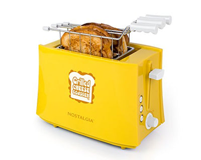 Nostalgia TCS2 Grilled Cheese Toaster with Easy-Clean Toaster Baskets and Adjustable Toasting Dial