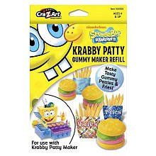 Spongebob Squarepants Krabby Patty Gummy Patty Fry Maker Refill