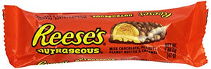 REESE'S Nutrageous Chocolate Peanut Butter Candy Bar (Pack of 18)