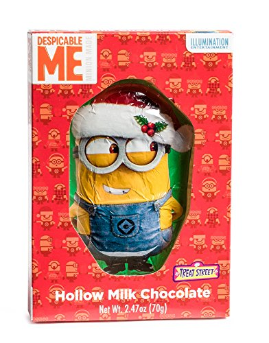 Merry Christmas, Despicable Me Christmas Minions Hollow Milk Chocolate Figure.
