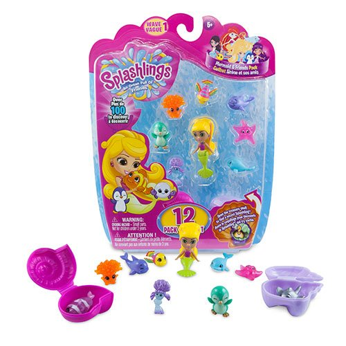 Splashlings Mermaid and Friends Series 1 Coral Canyon Playset - 12 Pack