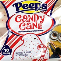 Candy Cane Peeps Flavored Marshmallow .3 Oz 10 Chicks