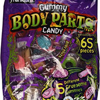 Frankford Gummy Body Parts Candy 60 Pieces Halloween Individually Wrapped