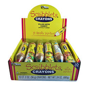 BEE INTERNATIONAL Scribblets Crayon with Candy, 12 Count