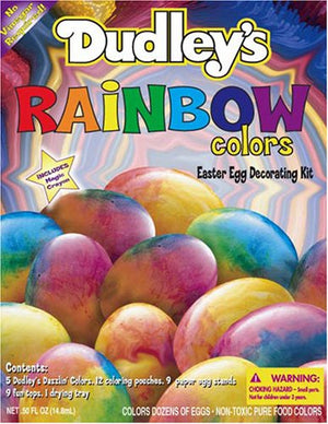 Dudley's Rainbow Colors Easter Egg Decorating Kit