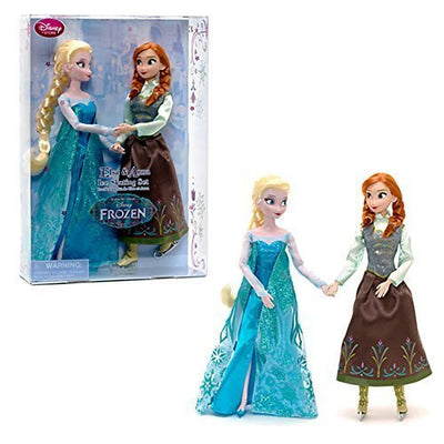 Disney Frozen Princess Elsa & Anna Ice Skating Doll Set 11.5