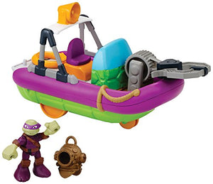Teenage Mutant Ninja Turtles Pre-Cool Half Shell Heroes Dive Boat with Diver Donatello Bathtub Vehicles and Figure