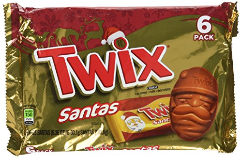 Twix 6 Piece Santa Shaped Candy Bars (Pack of 2)