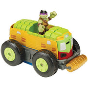 Nickelodeon Teenage Mutant Ninja Turtles Pre-Cool Half Shell Heroes Mutations Shellraiser to City Recycling Truck with Donatello Mutating Vehicle and Figure