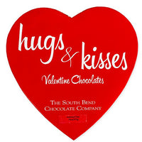 Hugs & Kisses Heart Assorted Valentine's Chocolates Gift Box (14 ounce)