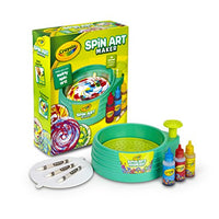 Crayola Spin Art Maker Art Activity Toy Kid-Powered No Batteries Great Gift Includes Everything You Need to Make Colorful Spin Art