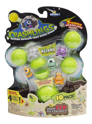 Crashlings, Series 1 Mini Figures, Aliens - 10 Pack - Random Selection