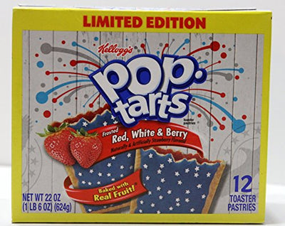 Pop Tarts Frosted Red White & Berry Limited Edition 12 Count
