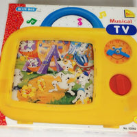 Blue-Box Musical TV - 18 Months+ Wind Up Music Box