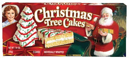 Little Debbie Vanilla Christmas Tree Cakes 7.91 Oz (8 Boxes)