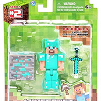 Minecraft Diamond Steve Figure Pack