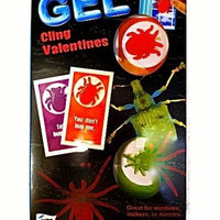 Bugs Gel Cling Valentines 16 Cards & 16 Gels