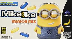 Mike and Ike Minion Mix Blueberry Banana Fruit Chewy Candy Theater Box