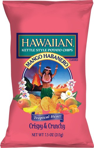 Hawaiian, Kettle Style Potato Chips, Mango Habanero, 7.5oz Bag (Pack of 3)