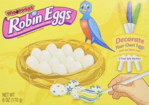 WHOPPERS ROBIN EGGS Candy, Decorate Your Own Eggs (Malted Milk Candy in a Crunchy Shell), 6 Ounce Box