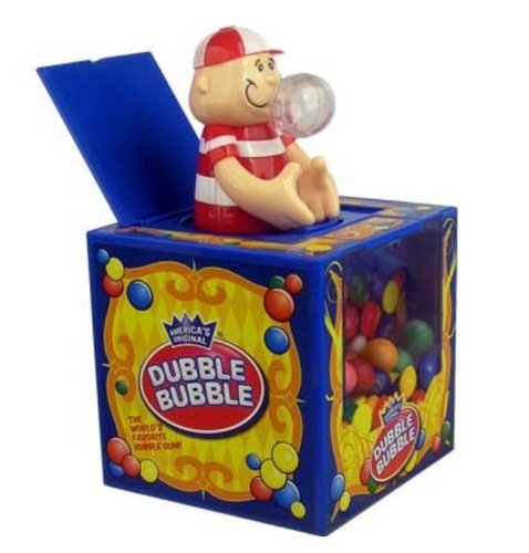 Dubble Bubble Jack In The Box Musical Gumball Machine with Gumballs