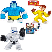 Heroes of Goo Jit Zu - 3 Pack of Super Stretchy Action Figures - Simian, Silverback, Pantaro by Simple Joy Toys
