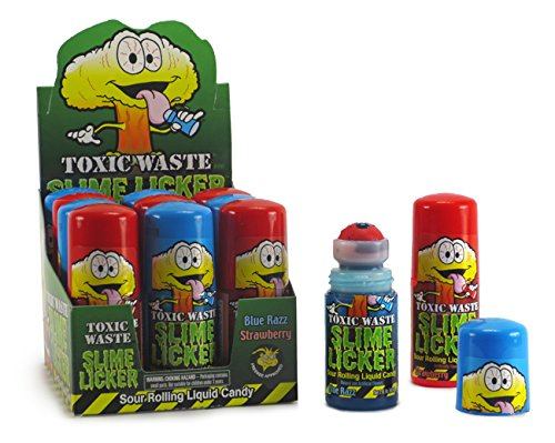 Toxic Waste Slime Lickers Sour Rolling Liquid Candy Candy