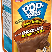 Pop-Tarts Gone Nutty!, Breakfast Toaster Pastries, Frosted Chocolate Peanut Butter, 10.5 oz (6 Count)