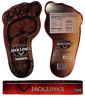 Jack Links Beef Jerkey Meat Snacks with Collectible Big Foot Holiday Tin