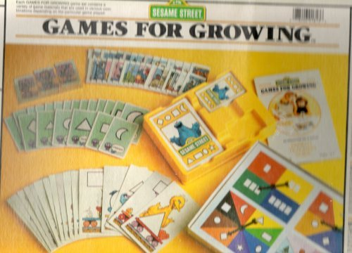 CTW Sesame Street Preschool Games for Growing (Shapes)-- an Educational Set of Games Ages 3 and Up, 1 to 4 Players, Includes Parent Teaching Guide, No. 8013 (Vintage 1986)