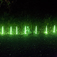"Pack of 12, 10"" Tall Halloween Glow Sticks, with 12 Bases"
