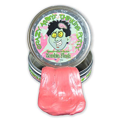 Crazy Aaron Thinking Putty - Zombie Flesh - Stress Relief Sensory Toys - Non Sticky Fun for Ages 3 and Older
