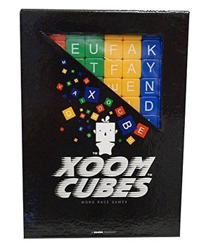 Xoom Cubes by BAXBO Word Race Dice Game Pack A (Primary Colors)