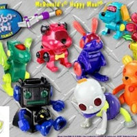 2002 Mcdonald's Sega Robo-chi , the Interactive Family ( Set of 8 )