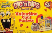 SpongeBob Squarepants Dig 'n Dips Valentine Card Packets by Nickelodeon