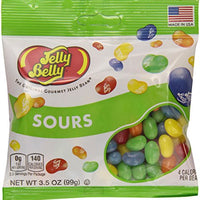 Jelly Belly Sours Flavors Assorted Jelly Beans, 3.5-Ounce Bags (Pack of 12)