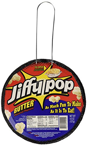 JIFFY POP Butter Flavored Popcorn, Stovetop Popping Pan, 4.5 oz.
