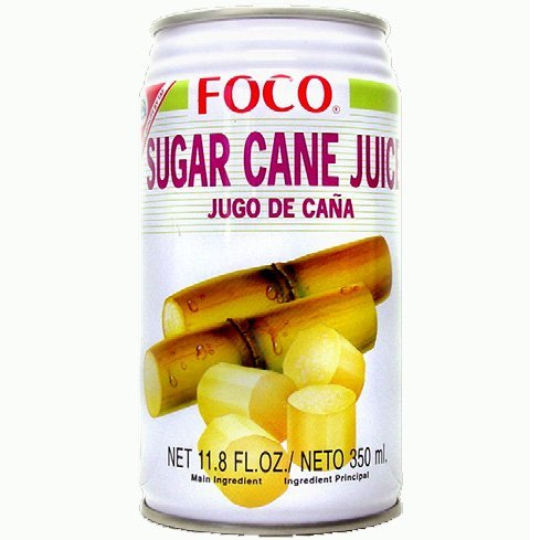 Six pack of Foco Sugar Cane Juice Drink 11.8 Oz - 350 ml Cans