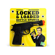 BigMouth Inc Lock and Loaded Bottle Opener, Black