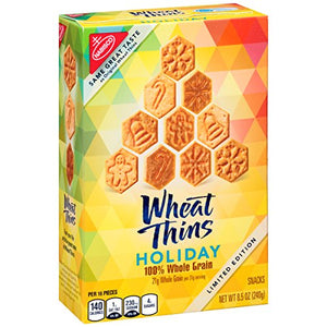 Wheat Thins Seasonal Holiday Crackers, 8.5 Ounce