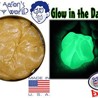"Crazy Aaron's Thinking Putty Exclusive ""Scorpion Skin"" Glow In The Dark 3.2oz Tin (Creamy Amber/Bright Green)"